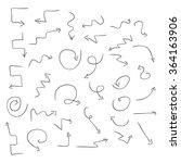 arrows. black pattern on a...   Shutterstock . vector #364163906