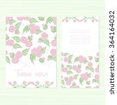 a set of cards with flowers.... | Shutterstock . vector #364164032