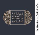 floral vector calligraphic... | Shutterstock .eps vector #364166606