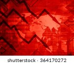 the global crisis   red... | Shutterstock . vector #364170272