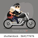 Grandma And Grandpa Riding A...