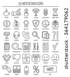 35 linear web icons. line icons ... | Shutterstock .eps vector #364179062