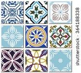 vintage retro ceramic tile... | Shutterstock .eps vector #364188338