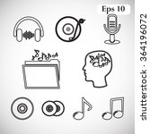 music vector icon    Shutterstock .eps vector #364196072