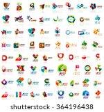 mega set of paper logo abstract ...   Shutterstock .eps vector #364196438