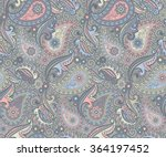 colored paisley pattern | Shutterstock . vector #364197452