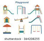 kids playground elements ... | Shutterstock .eps vector #364208255