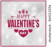 valentine's day poster... | Shutterstock .eps vector #364212356