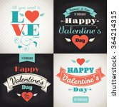 valentine's day cards. set of... | Shutterstock .eps vector #364214315