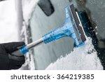 Closeup Of Man Cleaning Car...