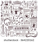 music doodle collection. hand... | Shutterstock .eps vector #364220162