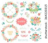 wedding vintage elements... | Shutterstock .eps vector #364220315