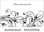 floral background with... | Shutterstock .eps vector #364220366