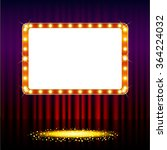 frame on stage curtain with... | Shutterstock . vector #364224032