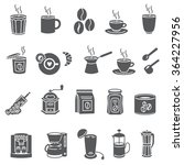 coffee and accessories. set of... | Shutterstock .eps vector #364227956