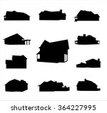 house silhouette free vector art 9711 free downloads