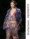 Small photo of Model Alexandra Agoston walks the runway during Dennis Basso's Fashion Show at Skylight Stdios Moynihan Station for New York Fashion Week Spring/Summer 2016 on September 15th, 2015 at New York, NY