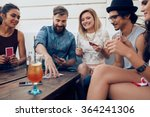 group of friends relaxing and... | Shutterstock . vector #364241306