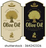 set of labels for olive oils... | Shutterstock .eps vector #364242326