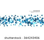 abstract 3d chaotic particles.... | Shutterstock .eps vector #364243406