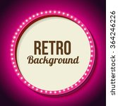 Realistic Retro Round Frame...
