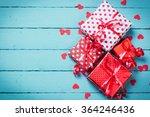 valentine's day concept on... | Shutterstock . vector #364246436
