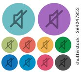 color mute flat icon set on...
