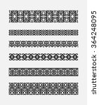 set of patterns for borders...   Shutterstock . vector #364248095