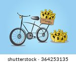 money bag and bike cycle | Shutterstock .eps vector #364253135