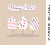 happy easter greeting card with ... | Shutterstock .eps vector #364254212