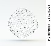 lattice geometric polygonal... | Shutterstock .eps vector #364256015