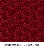 abstract heart seamless pattern.... | Shutterstock .eps vector #364258706