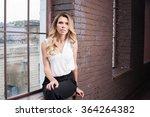 studio loft interior woman... | Shutterstock . vector #364264382