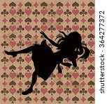Alice Silhouette On Wonderland...