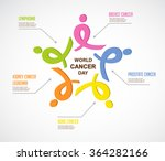 colorful ribbons represent... | Shutterstock .eps vector #364282166