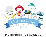 costume party and photo booth... | Shutterstock .eps vector #364282172