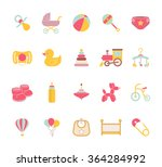 baby icons. doodle elements set.... | Shutterstock .eps vector #364284992