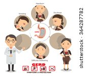 heartburn symptoms info graphic ... | Shutterstock .eps vector #364287782