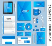 blue set of vector corporate... | Shutterstock .eps vector #364295762