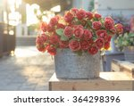 Bouquet Of Red Roses In Bucket...