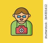 photographer man vector icon | Shutterstock .eps vector #364301612