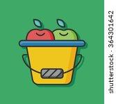 vegetable apple vector icon | Shutterstock .eps vector #364301642