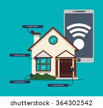 smart house technology  | Shutterstock .eps vector #364302542