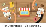 small business growth store... | Shutterstock .eps vector #364304552