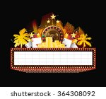 brightly theater glowing retro... | Shutterstock . vector #364308092