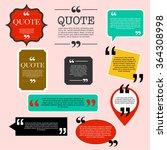 retro quotation mark speech... | Shutterstock .eps vector #364308998
