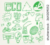 eco doodle set in cartoon style | Shutterstock .eps vector #364309052