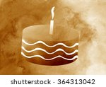 cake with candles in vintage.... | Shutterstock . vector #364313042