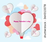 greeting card for valentine's... | Shutterstock .eps vector #364313378