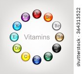vitamins collection for your... | Shutterstock .eps vector #364313522